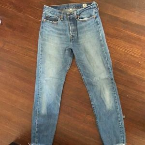 Levi's size 27 white oak straight leg denim